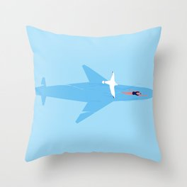 On my way, almost there Throw Pillow