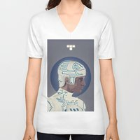 tron V-neck T-shirts featuring Tron by Perry Misloski