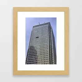 Window Cleaners Canary Wharf Tower Framed Art Print