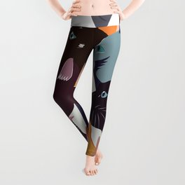 variety of cats Leggings