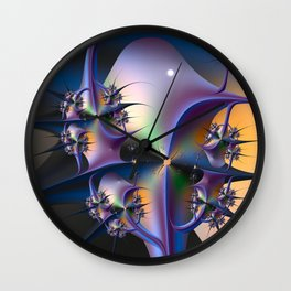 Abstract Upstairs Downstairs Balconies Wall Clock