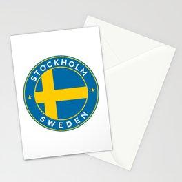 Sweden, Stockholm, circle Stationery Cards