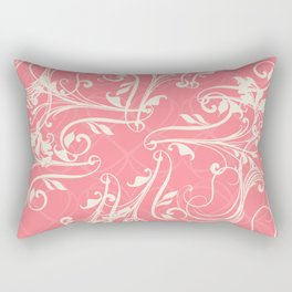 Pink swirls. Vector floral deisgn Rectangular Pillow