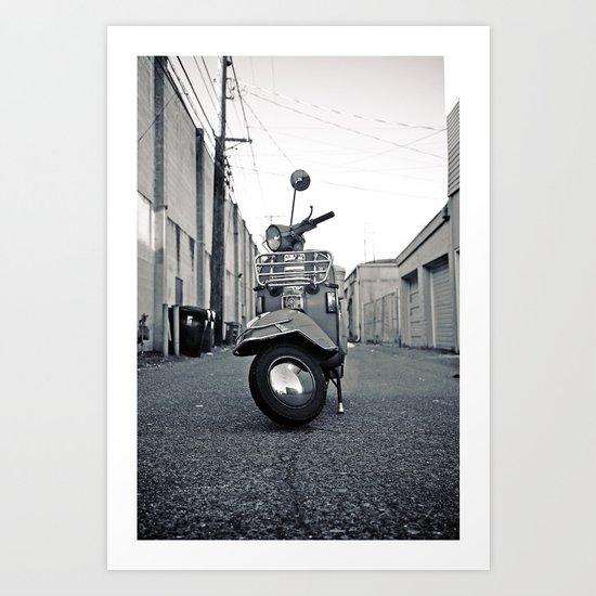 Urban Vespa Art Print