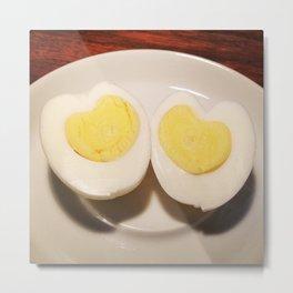 Egg Hearts Metal Print