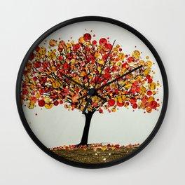 Tree in Autumn Wall Clock