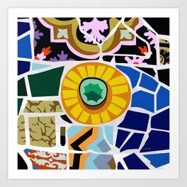 Gaudi Park Güell Art Print