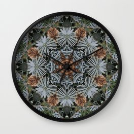 Spruce Cones And Needles Kaleidoscope K4 Wall Clock