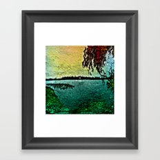 :: Lake View :: Framed Art Print