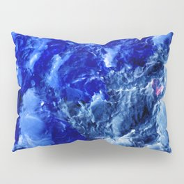 Abstración Océanica Azul Pillow Sham