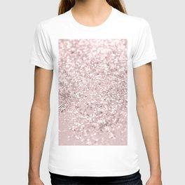Blush Glitter Dream #1 #shiny #decor #art #society6 T-shirt