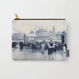 On the beach in 1900, history swimwear Carry-All Pouch