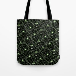 Cryptid Pattern: Green Lines Tote Bag