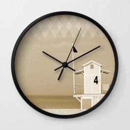 Lifeguard tower Wall Clock
