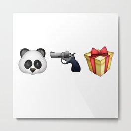 A Panda Next to a Gun Next to a Wrapped Gift (Shosanna, HBO Girls) Metal Print
