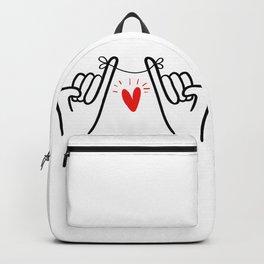 Pinky promise hand print, hand swear printable sign, couple art print, minimal line drawing print Backpack