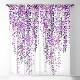 purple wisteria in bloom Blackout Curtain