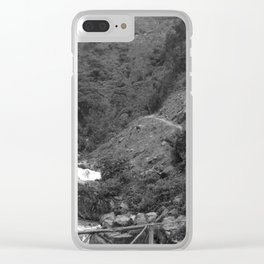 Alpine Bridge Adventure B&W Clear iPhone Case