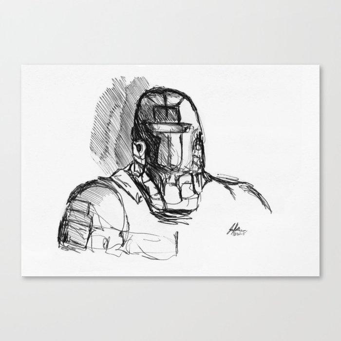 Warbot Sketch #067 Canvas Print