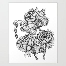 Fluttering Ink II Art Print