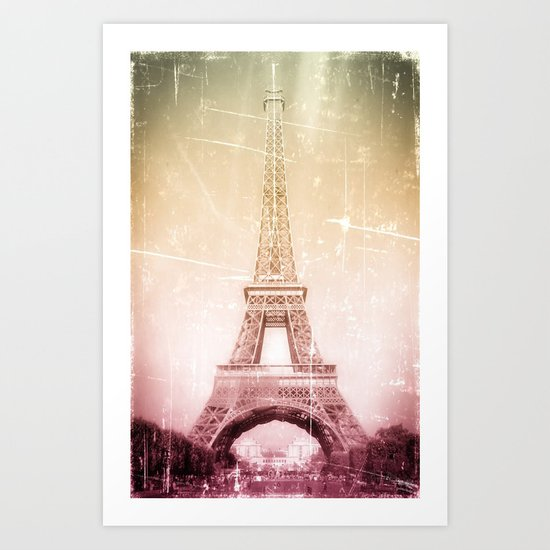 Eiffel Tower in Color Art Print