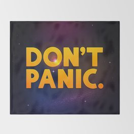 Don't Panic.  Throw Blanket