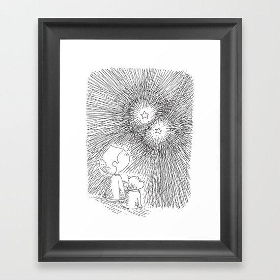 sous les étoiles Framed Art Print