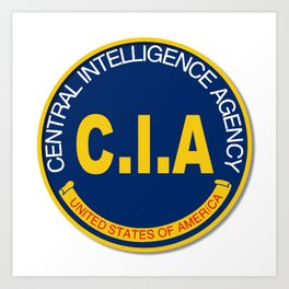CIA Logo Mockup Art Print