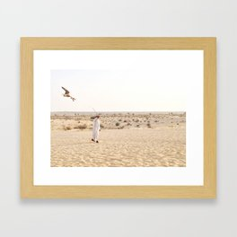 Falconry in the Middle East Framed Art Print