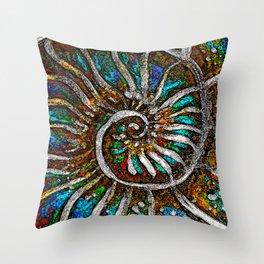 Ammonite E Throw Pillow