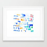 stripe Framed Art Prints featuring Stripe by Amy Sia