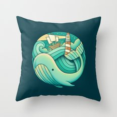 Into the Ocean Throw Pillow