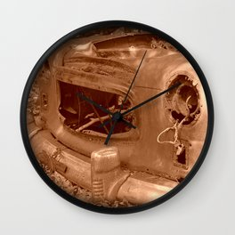 The Old Car In The Woods Wall Clock