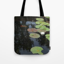 Koi and Water Lillies 2 Tote Bag