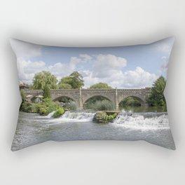 Bathampton bridge Rectangular Pillow
