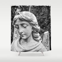 angel Shower Curtains featuring Angel by Mark Nelson
