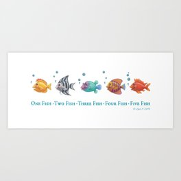 One Fish, Two Fish . . . Art Print