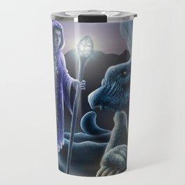 The sorceress and the dragon Travel Mug
