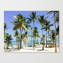 Palm Tree Vacation Canvas Print