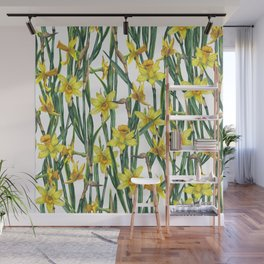 Spring's fragrances. Narcissuses. Wall Mural
