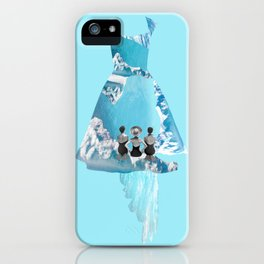 Filled with blue iPhone Case
