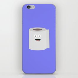 Toilet paper with face iPhone Skin