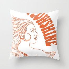 Flowshine: The Mountain Queen Throw Pillow