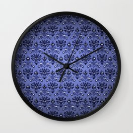 Beauty Haunted Mansion Wallpaper Stretching Room Wall Clock