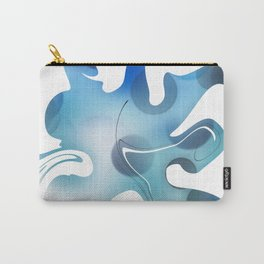 Abstract Blue Mixed Paint design Carry-All Pouch