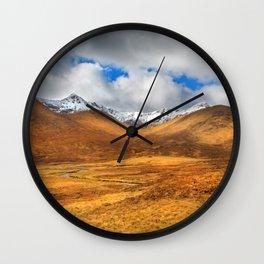 Distant Snow Wall Clock
