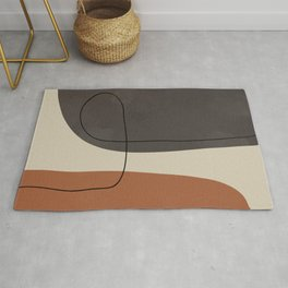 Modern Abstract Shapes #2 Rug