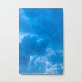 blue led Metal Print