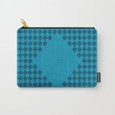Blue-Green Diamond Checkers Carry-All Pouch