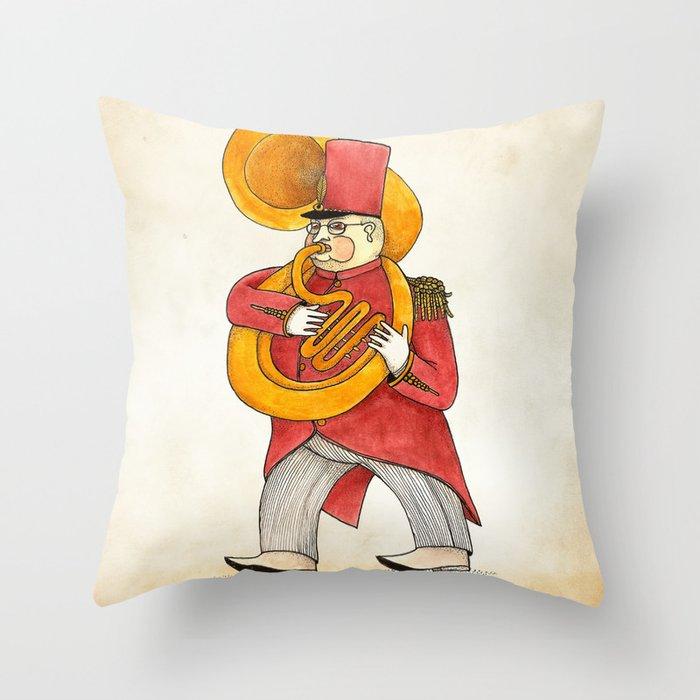 García, tuba Throw Pillow